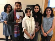 Five participants in the Digital Humanities program.